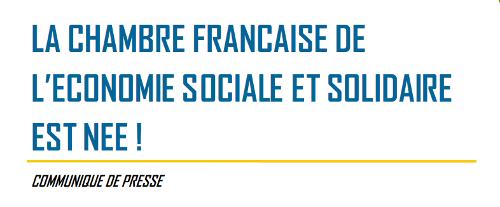 La chambre fran aise de l 39 economie sociale et solidaire - Chambre de l economie sociale et solidaire ...