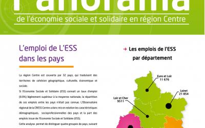 Panorama n°2 Les emplois de l'ESS dans les pays de la région Centre