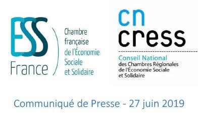Evolution de la représentation nationale de l'ESS : les principes d'une fusion adoptés entre ESS France et le CNCRESS