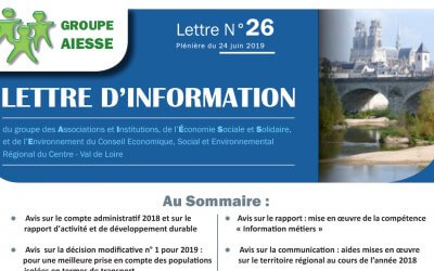 Lettre N°26 du Groupe AIESSE du Ceser
