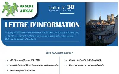 Lettre N°30 du Groupe AIESSE du Ceser