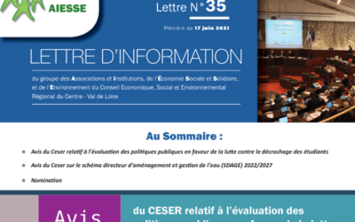 La lettre N°35 du Groupe AIESSE du Ceser