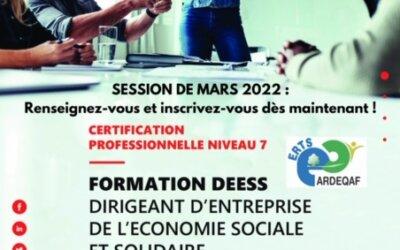 Candidatez à la formation Dirigeant Entreprise ESS de l'ERTS d'Olivet !