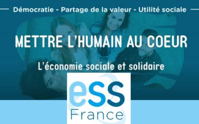 ESS France : discours de rentrée de Jérôme Saddier et nouvelle vidéo sur les principes de l'ESS